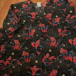 3x spider man scrub top